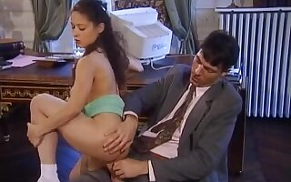 Curly vintage anal angel