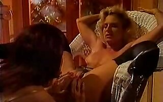 Lustful lesbian retro sluts in hot action and licking