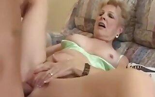 63 Year Old Granny JewellChampagne Fucks Her Grandson