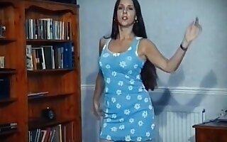 Word up - vintage brunette striptease dance