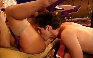 Amazing pornstar Nina Hartley in crazy vintage, blonde adult clip